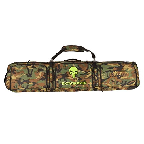UNISTRENGH Waterproof Snowboard Bag Adjustable Durable Snow Skiing Snowboarding Bags (Jungle Camo, 146cm)