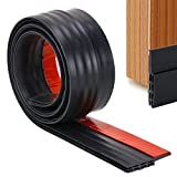 Door Draught Excluder, Door Weather Stripping, Rubber Door Draft Sweep Stopper for Door Soundproof by YOUSHARES (Black)