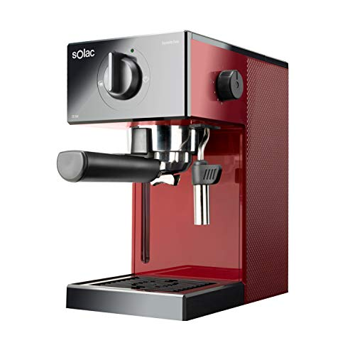 Solac CE4506 Squissita Easy Wine Espressomaschine, 20 bar, Double Cream, Espresso und Cappuccino, 1050 W, Filterhalter 1 oder 2 Kaffee, Einzeldosis/Mahlen, Zerstäuber aus Edelstahl, 1,5 l, Wein