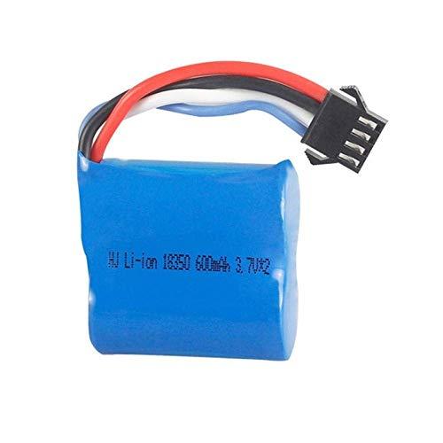 GzxLaY Batteria di Backup ad Alte Prestazioni 1 pz 3.7V2 600mAh Li-Ion Batteria per UDI R / C UDI001 UDI 001 Veleno per Barca ad Alta velocità 18350 3.7V Batteria di Ricambio-Blu Pavone