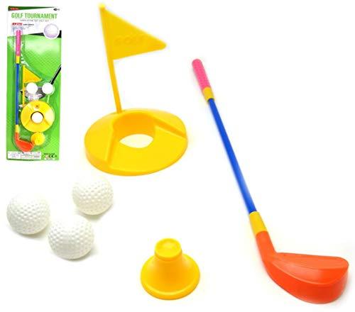 VENTURA TRADING Juego de Palos de Golf para niños Jardín Mini Golf Game Juguete al Aire Libre para niños Golf de Juguete
