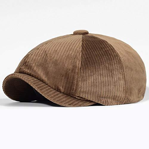 NFRADFM Sombrero Unisex de otoño e Invierno para Hombres y Mujeres, Sombrero Octogonal cálido, Sombrero de Copa Plano Antiguo