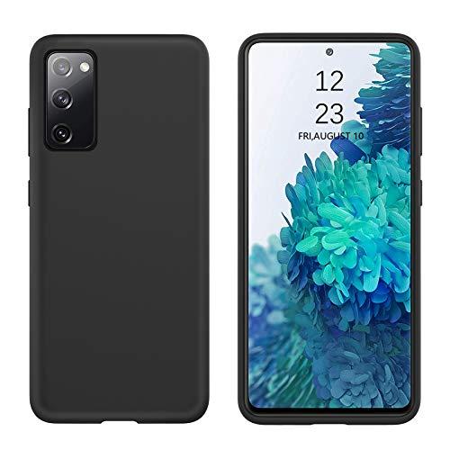 BENTOBEN - Carcasa para Samsung Galaxy S20 FE, silicona líquida, forro de microfibra suave de poliuretano termoplástico, flexible, suave, ultrafina, color negro