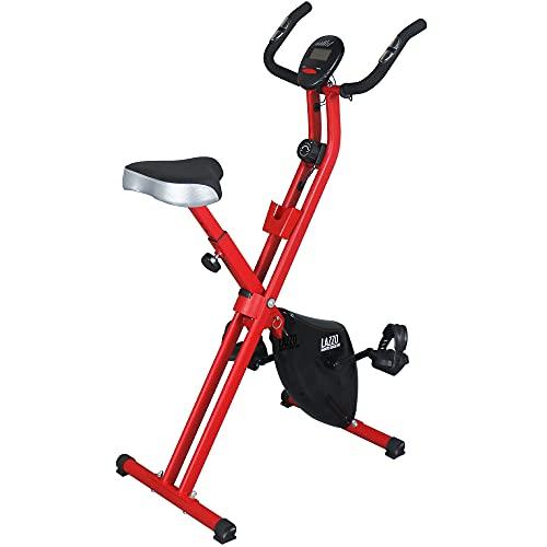 LAZZO Indoor Folding Magnetic Slim Exercise Bike| Bundle Includes Larger Soft...