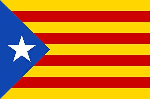 DURABOL Bandera de Inde.Catalan Estelada blava-catalunya -cataluña independentista Flag