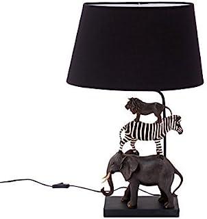 Brillibrum Lámpara de mesa de diseño Safari, fabricada en polirresina, para habitación infantil, E27, máx. 40 W