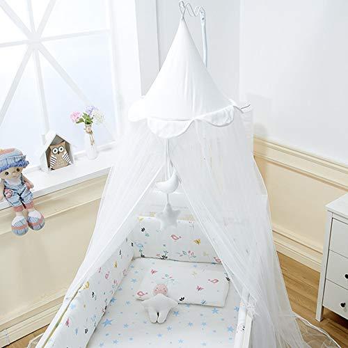 Babybett Moskitonetz Universal mit Ständer Dekoration Babyzimmer Dekor Krippe Netz Zelt Baldachin Kinderbett Vorhang