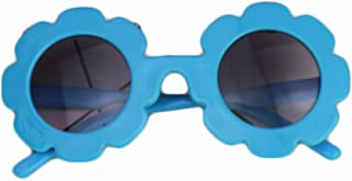 Toddler Kids Girl Flower Round Anti-UV Sunglasses for...