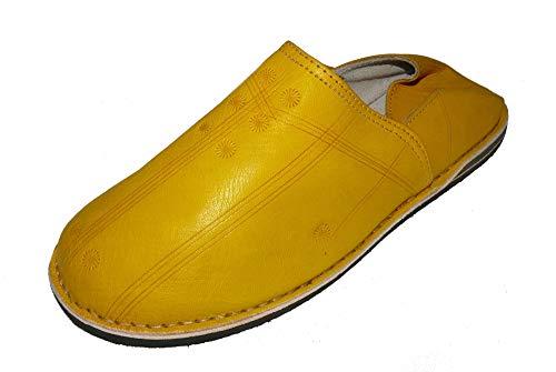 Marrakech Accessoires Orientalische Leder Schuhe Pantoffeln Hausschuh Slipper - Herren/Damen/Unisex - 905586-0001, Schuhgrösse:47
