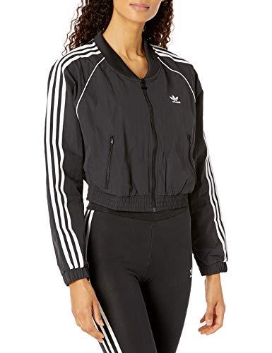 adidas Originals Women's Short Track Top, Black, Small