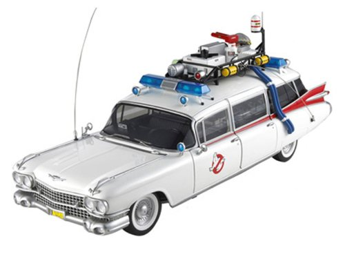 1959 Cadillac Ambulance Ecto-1 From Ghostbusters 1 Movie 1/18 by Hotwheels BCJ75 by Hot Wheels