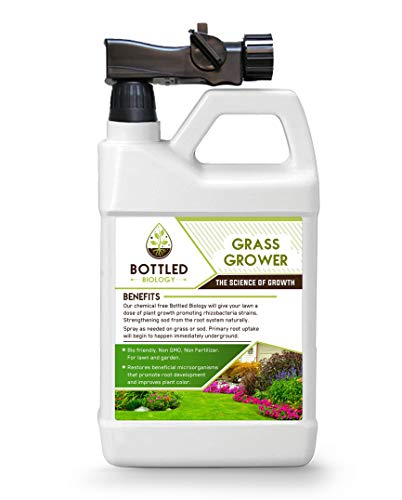 Bottled Biology - Grass Grower - Beneficial Plant and Soil Additive Ready to use Non Fertilizer -...