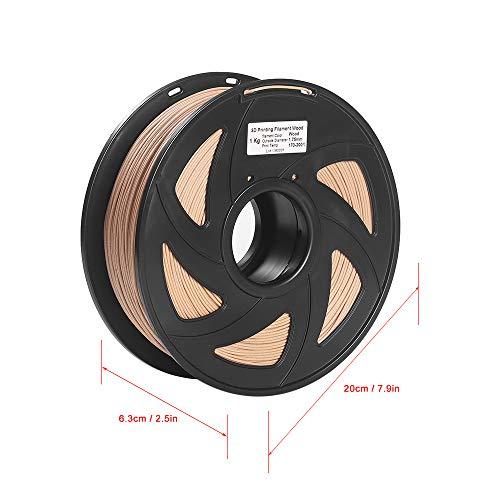 Aibecy 3D Printer Filament Hout + PLA 1,75 mm 1 kg Spoel Afmeting Nauwkeurigheid +/- 0,02 mm