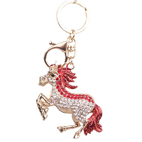 Lindo Pony con Diamantes Llavero para Mujer Junma Adornos...