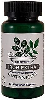 Vitanica, Iron Extra Vegetarian Capsules, 60-Count