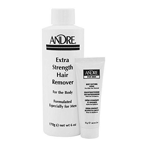 Andrea Andre Wax for Men, Extra Strength Remover for the Body