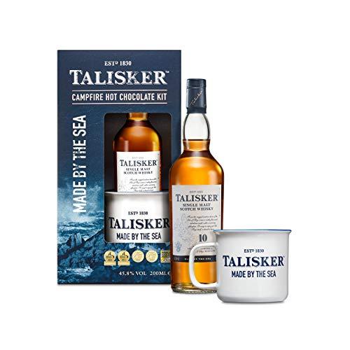 Talisker Single Malt Scotch Whisky 10 Years Hot Chocolate Geschenkset, Alkohol, Flasche, 45.8%, 200 ml, 761866