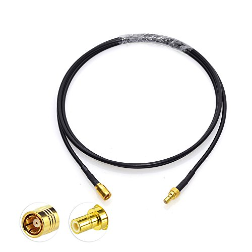 Eightwood SMB kabel DAB antenne SMB man-vrouw verlengkabel RG174 1M voor DAB auto antenne radio CB radio DAB antenne satelliet Sirius XM DAB AM/FM Blaupunkt auto radio antenne