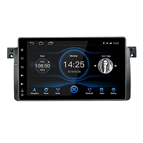 Panlelo Android 8.1 Car Stereo voor BMW E46 1999-2004 Autoradio AM FM RDS 9 inch IPS touchscreen 8-aderige head-unit 4 GB + 32 GB Sat Navi GPS-navigatie met BT Wi-Fi stuurwielbediening