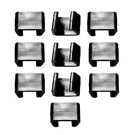 ZQEDY Clips de meubles en osier 10 pièces Patio Extérieur Fixation de jardin Canapé modulable en plastique Maison Chaise…