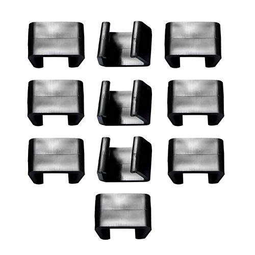WERTAZ Amusingtao 10 Stück Starke Verbinder für Gartenmöbelset aus Polyrattan,Lounge Set Clips Klammern Outdoor Couch Patio Möbel