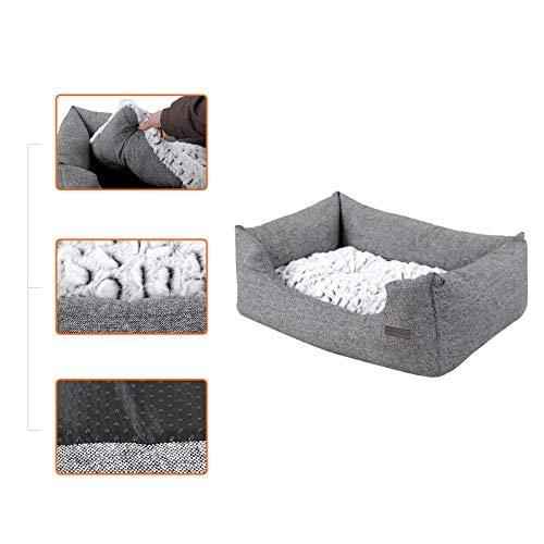SONGMICS Hundebetten innenkissen Beidseitig Verwendbar mit unten einen Anti-Rutschboden M Außenmaße :80 x 60 x 26 cm PGW26G - 3