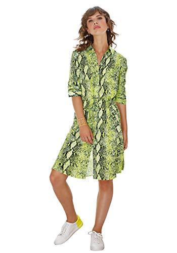 Looxent Damen Abendkleid mit 3/4-Arm Brusttasche