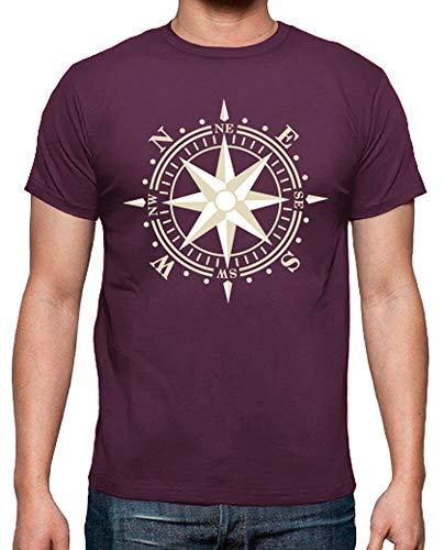 latostadora - Camiseta Rosa de los Vientos para Hombre
