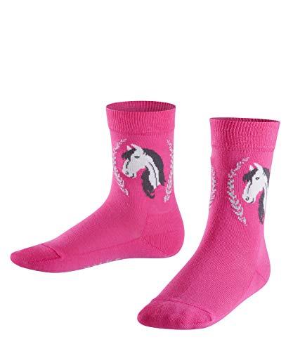 FALKE Kinder Socken Horse - Baumwollmischung, 1 Paar, Rosa (Gloss 8550), Größe: 35-38