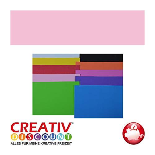 CREATIV DISCOUNT® NEU Moosgummiplatte, 29 x 20mm, 10Stk., Creme Rosa