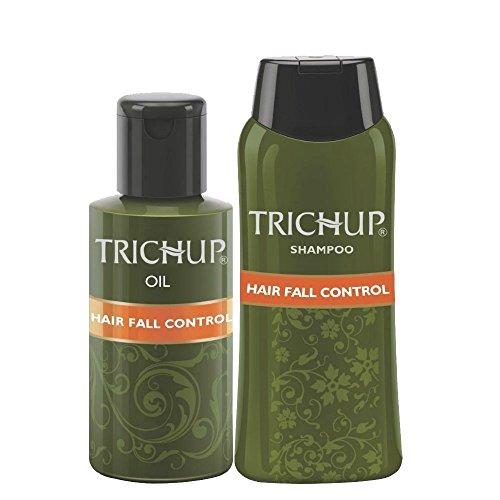 Trichup Puro Naturale Erbaceo Cura Kit For Salutare Lungo & Forte Capelli con Capelli Olio (200ml x 2) + Capelli Shampoo (200ml) Pacco di 3