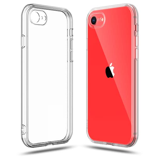 Shamo's Crystal Clear Shock Absorption TPU Rubber Gel Case (Clear) Compatible with iPhone SE 2020 (2nd Generation) iPhone 8 and iPhone 7