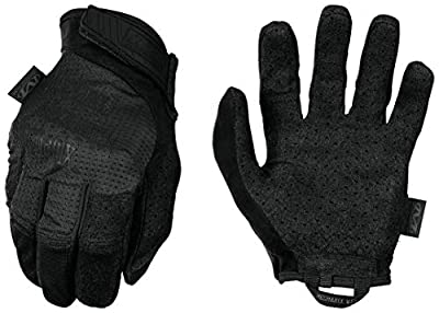 Mechanix Wear MSV-55-008 : Tactical Specialty Vent Covert Tactical Work Gloves (Small, All Black)