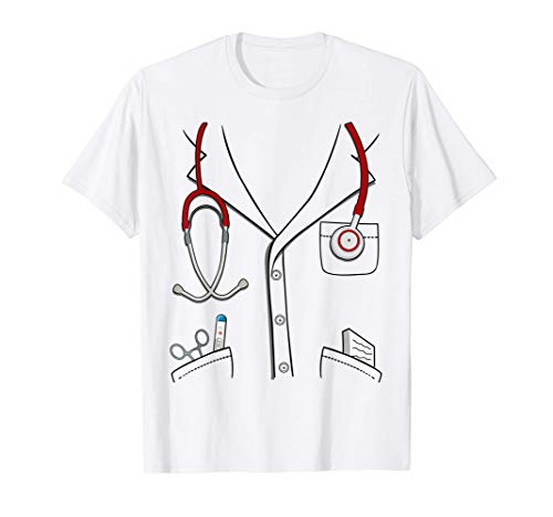 Doctor Traje Disfraz De Halloween Niños Doctor Camiseta