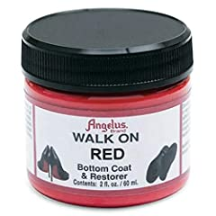 Angelus Walk on Bottom Paint and Restorer Stain-type paint with an additional hardening agent For refinishing hard soled shoes Made in the USA - 2 ounce jar Angelus Walk on Red Bottom Coat and Restorer