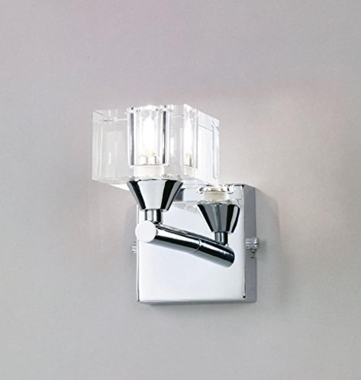 Mantra Iluminazion Wandleuchte 1L CUADRAX GLASS - CHROME 1 x max. 40 W G9