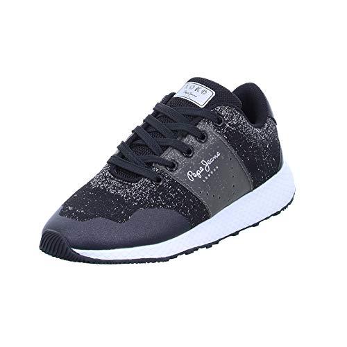 Pepe Jeans London Damen KOKO Sandy Sneaker, Schwarz (Black 999), 36 EU
