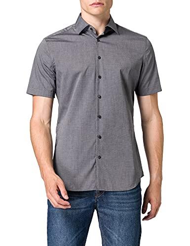 Seidensticker Herren Business Hemd Shaped Fit Businesshemd, Grau (Grau 34), 41