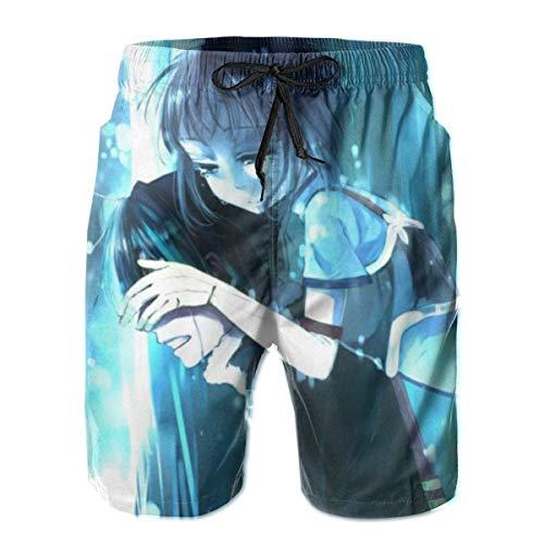 JJKKFG-H Sword Art Online Kirigaya Kazuto Herren Shorts Badeshorts Casual Surf Beach Shorts Boardshorts Sommer Strand Urlaub Gr. XXL, weiß