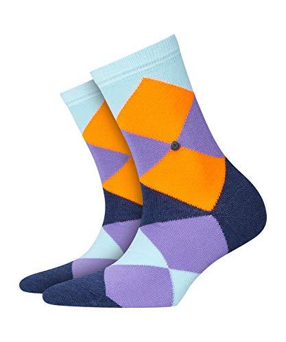 BURLINGTON Damen Socken Neon Bonnie - Baumwollmischung, 1 Paar, Blau (Mint 6893), Größe: 36-41