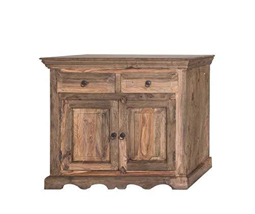MASSIVMOEBEL24.DE Kolonialart Massivholz Möbel Palisander grau Sideboard Sheesham geölt massiv Möbel LEEDS #12