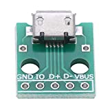 10Pcs Micro USB Breakout Board Femmina Presa a DIP Adapter Board 5 Pin 2.54mm Connettore dell'adattatore del passo