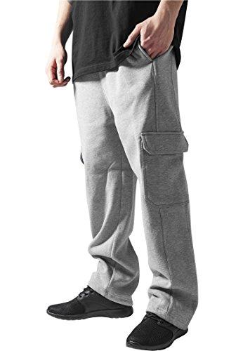 Urban Classics Herren Cargo Sweatpants Hose, Grau (Grey 111), W40 (Herstellergröße: 3XL)