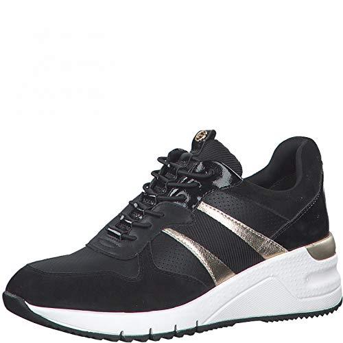 Tamaris Damen Sneaker 1-1-23787-36 098 schwarz normal Größe: 38 EU