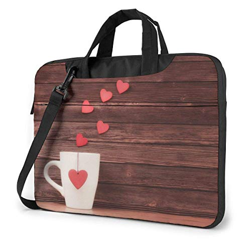 AOOEDM Laptop-Tasche Computertasche Ärmelabdeckung Romantischer Kaffee Wasserdichte Schulter Aktentasche 13 14 15,6 Zoll