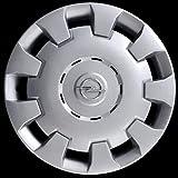Desconocido Tapacubos para Opel Astra, 4 Unidades, código 5907/5, diámetro de 15 Pulgadas, Logotipo Cromado