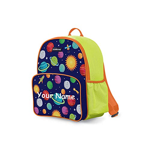 Personalized Solar System with Rocket Ships Universe Print Back to School Backpack Book Bag with...