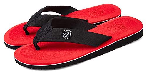 [Unitysow] ビーチサンダル メンズ 超軽量 携帯便利 アイランドスリッパ カジュアル 室内履き アウトドア 海 プール リゾート スタイリッシュ サンダル、レッド、25.0 CM