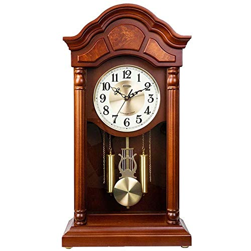XHRHao Mantel Clock Hourly Chime Function Automatically Stop Reporting Time Fireplace Clocks for Living Room, Kitchen, Office & Home Décor (Color : B)