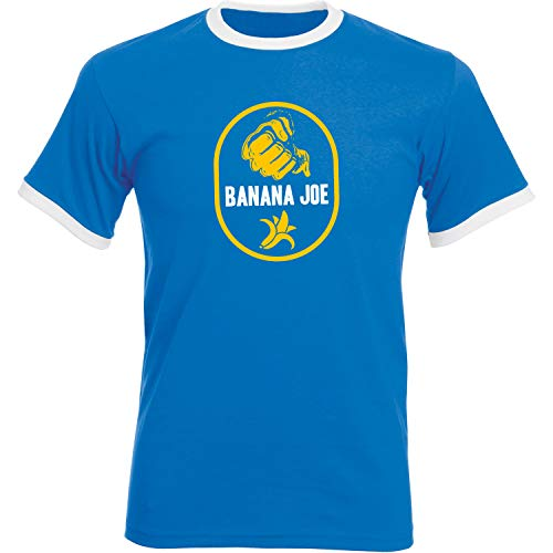 Banana Joe Original Premium Soccer Kontrast Shirt #1 Royalblau/Weiss 3XL